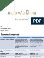India vs China - 2030