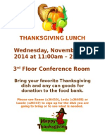 2014 Thanksgiving Lunch Flyer
