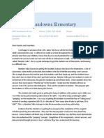 sandowne elementary parent communication letter