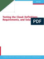 Cloud Testing