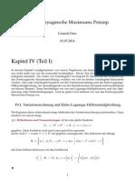 Das Pontryaginsche Maximums Prinzip