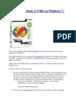 Install Visual Basic 6