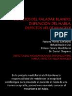DEFECTOS DEL PALADAR BLANDO, DISFUNCION DEL HABLA fabiana.pptx