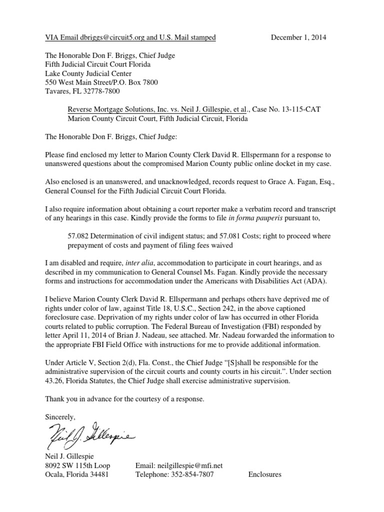 Letter to Chief Judge Briggs-Fifth Judicial Circuit-Dec-01