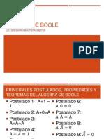 Algebra de Boole Postulados Propiedades