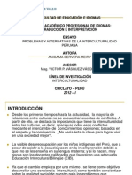 PROBLEMAS Y ALTERNATIVAS DE LA INTERCULTURALIDAD PERUAN