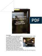 texas am wastewater treatment facility report
