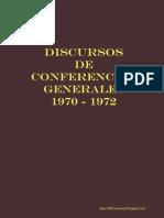 Discursos de Conferencias Generales 1970 - 1972