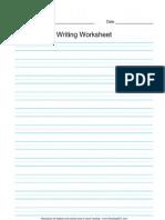 CELP 1 Blank Writing Worksheet