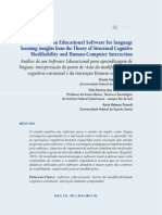 Analysis of an Educational Software for Language Learning