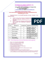 SCCL Recruitment Advt.