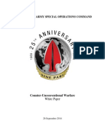 USASOC Counter-Unconventional Warfare White Paper