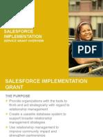 Salesforce Implementation Service Grant Overview