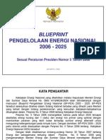 Blueprint Pengelolaan Energi Nasional Indonesia