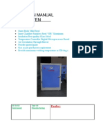 "Operating Manual ""PIECO"" Hot Air Oven"
