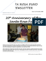 Santa Rosa Fund Newsletter No 32 November 2008 - 20th Anniversary