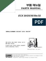 PARTS MANUAL ECX20 - 32  (Lot No _ 9653)