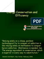 Energy Conservation and Efficiency