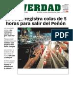 141202 La Verdad- Gibraltar Registra Colas de Cinco Horas Para Salir Hacia España Portada y p.6