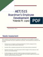 aet 531parts i ii iii instructional plan