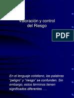 VALORACION Y CONTROL DEL RIESGO (Clase Economia de La Construcción)