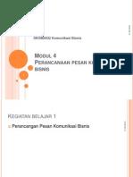 SKOM4432 Modul 4 Perancangan Pesan Komunikasi Bisnis Pptx