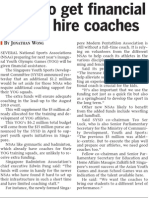 NSAs to get financial help to hire coaches, 5 Sep 2009, Straits Times
