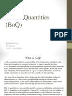Bill of Quantities (BoQ)