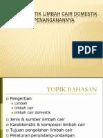 Modul 2 Karakteristik Limbah Cair Domestik & Penanganannya