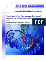 Proceedings of the International Symposium Research and Education in Innovation Era, 5th Edition, Mathematics & Computer Science