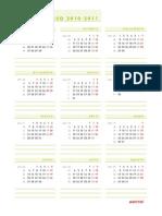 Calendarios Del Curso 2010 2011 Amarillo