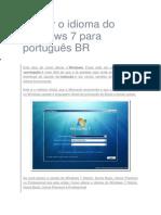 Tutorial Idioma Portugues Br