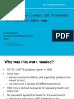 1600 - Brocklebank - CDOIF Environmental Risk Tolerability for COMAH Establishments