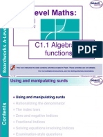 C1.1 Algebra and Functions 1