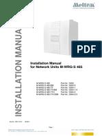 Installation Manual M-WRG-S-485 23-06-2011