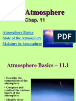state and moisture of the atmosphere