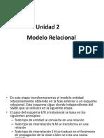 Unidad 2- Modelo Relacional