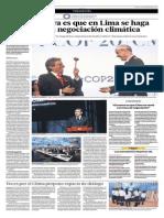 La Expectativa Es Que en Lima Se Haga Historia en La Negociación Climática