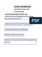 CA Ipcc Fast Track Notes for Imformation Technology