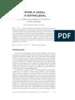 MARGALHAES, A. Entre o Legal e o Extralegal