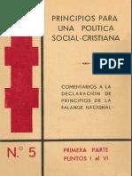 Principios de la política Social