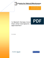 Gestalt Therapy Effeectiveness Comparisons