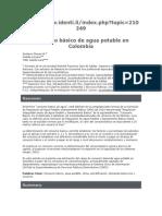 Consumo Básico de Agua Potable en Colombia