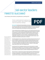 What Social-sector Leaders Need to Succeed