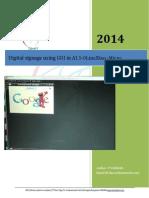 Digital Signage Using GUI in A13-OLinuXino -Micro