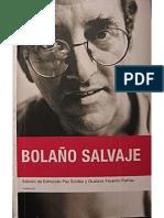 Paz Soldan Edmundo - Bolaño Salvaje