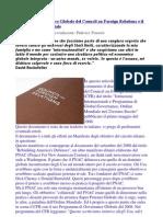 Piano di Governance Globale - CFR