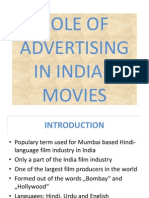 Role of Advertising in Indian Movies