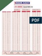 IES Mechanical Paper Key Sheet