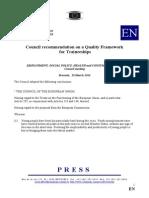 Council Rec QA for Traineeships